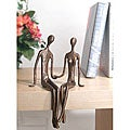 Sitting Couple Cast Bronze Sculpture