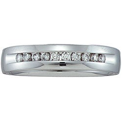 14k White Gold Men's 1/4ct TDW Diamond Band (HI, I1)