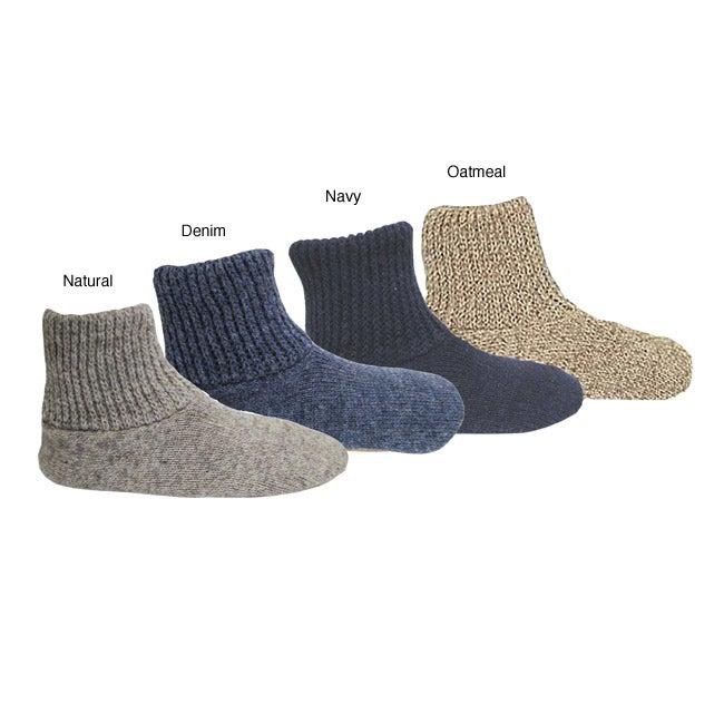 Muk Luks Men's Ragg Wool Nonslip Slipper Socks