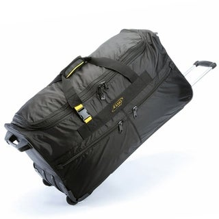 A.Saks 31-inch Expandable Rolling Upright Duffel Bag