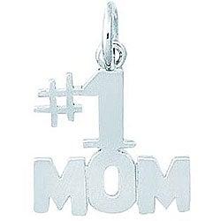 Sterling Silver #1 Mom Charm