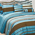 Ultra-Soft Microfiber Stripe Reversible 3-Piece Comforter Set