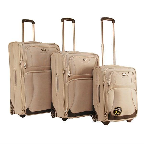 CalPak Havana 3-piece Expandable Luggage Set