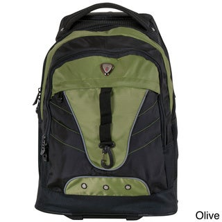 CalPak Night Vision 18-inch Rolling Multi-compartment Backpack