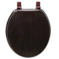 Deep Wood Grain Molded Wood Toilet Seat