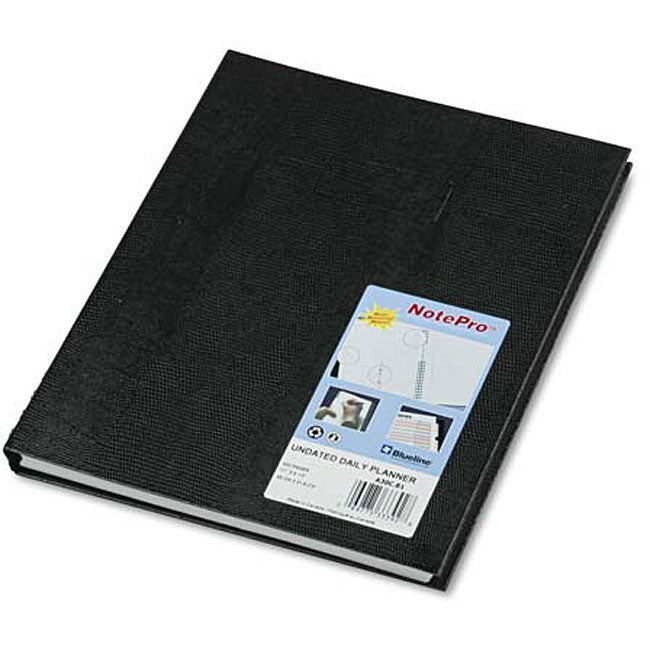 NotePro Hard Cover Undated Daily Planner