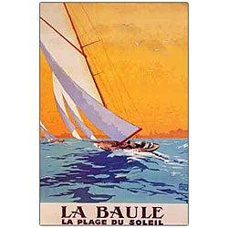 Charles Allo 'La Baule' Framed Canvas Art