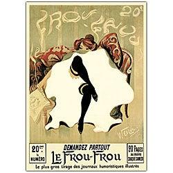 Lucien Henri Weiluc 'Le Frou Frou' Canvas Art
