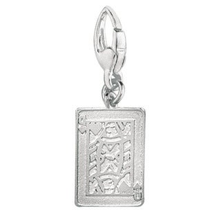 Sterling Silver Queen of Hearts Charm