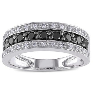 Miadora 14k Gold 3/4ct TDW Black and White Diamond Ring (H-I, I1-I2)