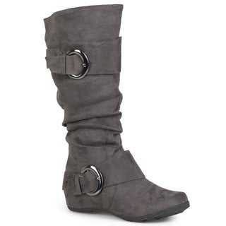 Bamboo by Journee Women&#39;s &#39;Jester-01&#39; Slouch Boots with Buckle