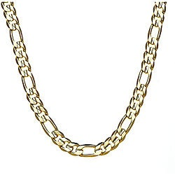 Simon Frank 14k Gold Overlay 10mm Figaro Chain Necklace (20-inch)