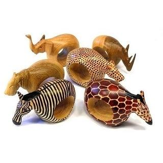 Set of Six Safari Napkin Rings (Kenya)