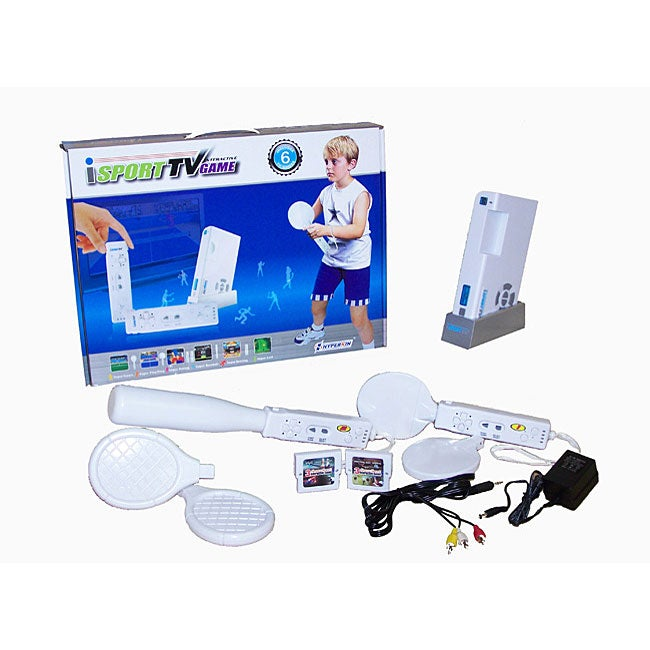 Plug-n-Play iSport 6 Interactive Games for TV with 2 Wireless Remotes