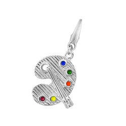 Sterling Silver Artist Pallet Charm