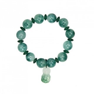 Elastic Jade Bracelet with Buddha Charm (China)