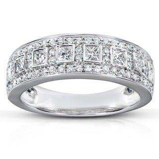 Annello 14k Gold 5/8ct TDW Princess Diamond Ring and Gift Box (H-I, I1-I2)