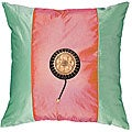 Asian Fuchsia/ Green Decorative Cushion Cover