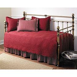 Trellis Scarlet 5-piece Day Bed Set