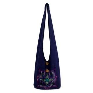 Cotton 'Pink Poppy' Handbag (Thailand)
