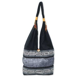 Cotton 'Music' Shoulder Bag (Thailand)