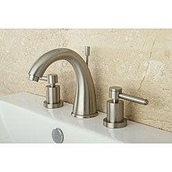 Satin Nickel Wideset Bathroom Faucet