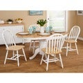 Simple Living Farmhouse 5-piece White/ Natural Dining Set