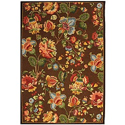 Safavieh Hand-hooked Transitional Brown Wool Rug (8'9 x 11'9)