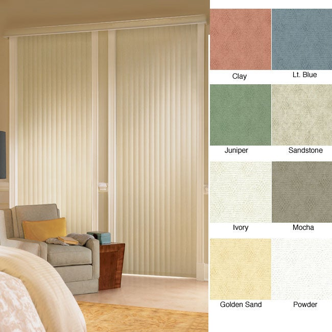 Havana Vinyl Vertical Blinds (30 in. W x Custom Length)