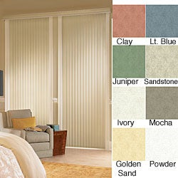 Havana Vinyl Vertical Blinds (50 in. W x Custom Length)