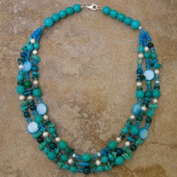 Triple-strand Turquoise Necklace (Thailand)