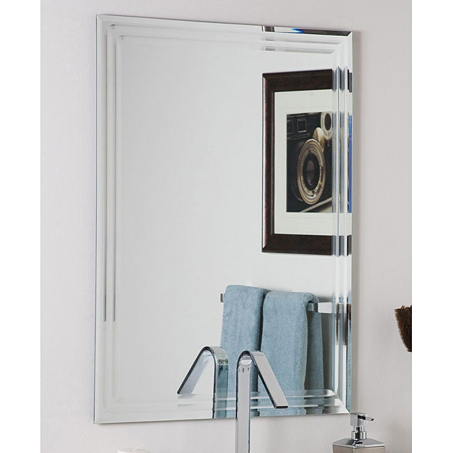 Frameless Tri Bevel Wall Mirror Overstock Shopping Big