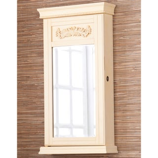 Avery Antique White Jewelry Armoire