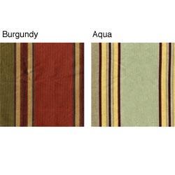 Faux Silk Stripe 84-inch Lined Window Curtain Panel