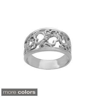 Sterling Essentials Sterling Silver Butterfly and Heart Ring
