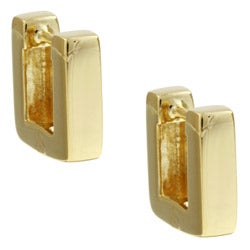 Sterling Essentials 14K Gold over Silver Square Hoop Earrings