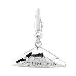 Sterling Silver Mountain Snow Cap Charm