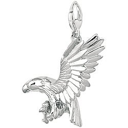 Sterling Silver Eagle with High Wings Charm