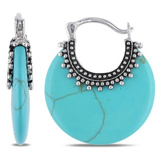 M by Miadora Sterling Silver Turquoise Earrings