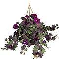 Morning Glory Silk Plant Hanging Basket