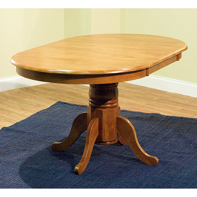 Simple Living Rubberwood Round Oval Farmhouse Table Overstock Shopping G