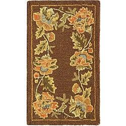 Safavieh Handmade Transitional Floral Brown Wool Rug (1'8 x 2'6)
