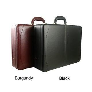Avenues Executive Leather Expandable Attache Case
