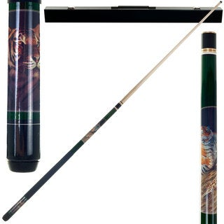 Tiger 2-piece Pool Cue with 6 Replacement Tips