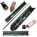 Emerald Green 2-piece Pool Cue with Replacement Tips