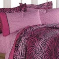 Pink 'Wild One' Full-size 7-piece Bed in a Bag with Sheet Set