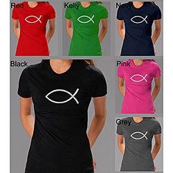 Los Angeles Pop Art Women's Jesus Fish T-shirt