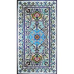 Hand-painted 91-tile Ceramic Mosaic