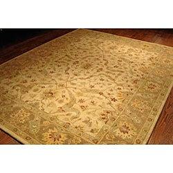 Safavieh Handmade Antiquities Treasure Ivory/ Brown Wool Rug (9'6 x 13'6)