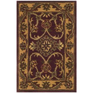Safavieh Handmade Golden Jaipur Burgundy/ Gold Wool Rug (2' x 3')